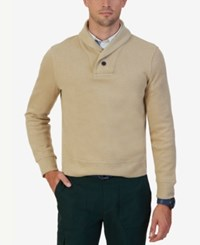 Nautica Men's Shawl Collar Sweater Sandy Bar