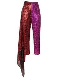 Halpern High Waisted Slim Fit Trousers Red