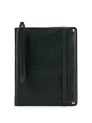 Valentino Studded Leather Notebook Case Green