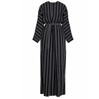Undress Tulua Black And White Striped Maxi Occasion Wedding Guest Dress