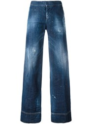 Dsquared2 Flared Jeans Blue