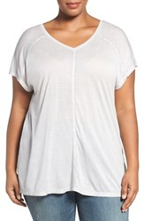 Sejour Plus Size Women's V Neck Tee