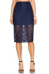 Bcbgeneration Lace Pencil Skirt Blue