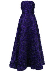 Bambah Violeta Princess Gown Women Olive Brocade 14 Pink Purple