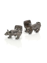 Robin Rotenier Bull And Bear Cufflinks Silver