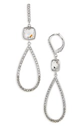 Judith Jack Women's Lend An Ear Teardrop Earrings Black Diamond Marcasite