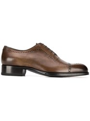 Tom Ford Classic Lace Up Shoes Brown