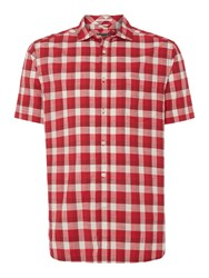 Howick Appleton Gingham Short Sleeve Shirt Red