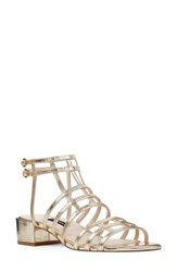 Nine West Xerxes Sandal Light Gold Leather