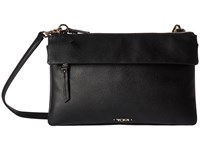 Tumi Voyageur Leather Tristen Crossbody Black Cross Body Handbags