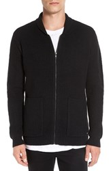 Rvca Men's 'Zig Zag' Waffle Knit Zip Shawl Collar Sweater