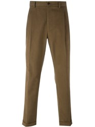 Etro Loose Fit Chinos Brown