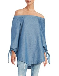 Free People Chambray Off The Shoulder Tunic