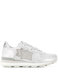 Atlantic Stars Embellished Star Sneakers Grey