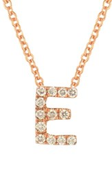 Bony Levy Women's Pave Diamond Initial Pendant Necklace Nordstrom Exclusive Rose Gold E