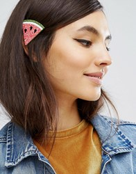 Asos Limited Edition Glitter Watermelon Hair Clip Pink