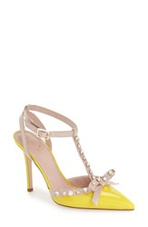 Women's Kate Spade New York 'Lydia' Pump Lemon Yellow Patent
