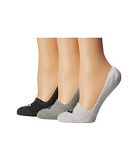 Sperry Repreve Liners 3 Pack Gray Marl Assorted Women's No Show Socks Shoes Multi