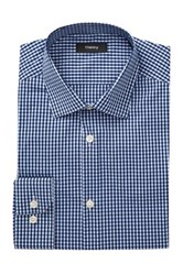 Theory Dover Gingham Slim Fit Shirt Blue