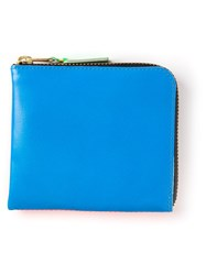 Comme Des Gara Ons Wallet Square Zip Purse Blue