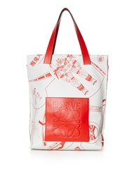 Loewe Galaxy Print Leather Tote