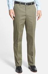 Men's Big And Tall Berle Wrinkle Resistant Cotton Trousers Olive