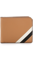 Ben Minkoff Waxy Leather Vesper Wallet Tan Ivory Black