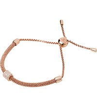 Links Of London Starlight 18Ct Rose Gold Plated And Sapphire Bead Bracelet