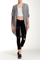 American Apparel Open Front Shawl Cardigan Blue