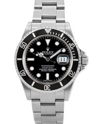 Rolex Pre Owned 40Mm Submariner Watch Black