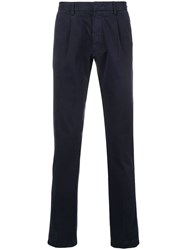 Z Zegna Straight Leg Chinos Blue