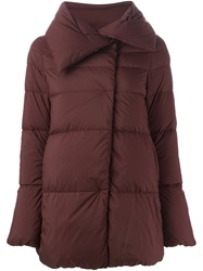 Herno Oversized Collar Padded Jacket Red