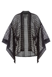 Anna Sui Crochet Cape Black