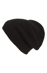 Women's Phase 3 'Stand Up' Basket Knit Slouchy Beanie Black