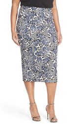 Plus Size Women's Melissa Mccarthy Seven7 Butterfly Print Midi Pencil Skirt