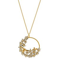 Alex Monroe Flower And Bee Spring Pendant Necklace Gold
