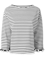 Moncler Striped Top Nude Neutrals