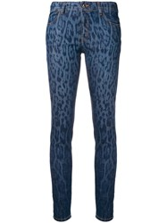 Just Cavalli Abstract Pattern Skinny Jeans Blue