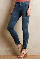 Anthropologie Closed Holly Moto Straight Jeans Steel Blue 29 Denim