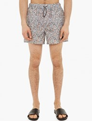 Acne Studios Perry Tiger Print Swimshorts Beige