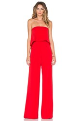Jay Godfrey Moore Jumpsuit Red