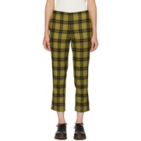 6397 Yellow Plaid Pull On Trousers