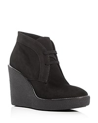 Aquatalia By Marvin K Vianna Weatherproof Desert Wedge Booties Black