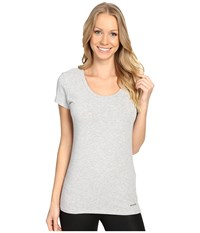 Columbia Cotton Stretch T Shirt Grey Heather Women's Underwear Gray