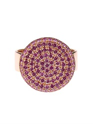 Dina Kamal Dk01 Sapphire And Pink Gold Flat Coin Ring