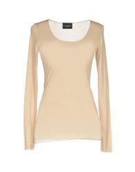 Atos Lombardini T Shirts Beige