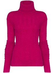 Jacquemus Long Sleeve Knitted Jumper Pink