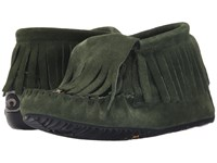 Manitobah Mukluks Paddle Suede Moccasin Vibram Moss Women's Boots Green