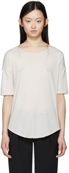 Raquel Allegra Grey Signature Jersey T Shirt