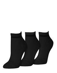 Hue Air Cushion Sport Quarter Top Socks Black